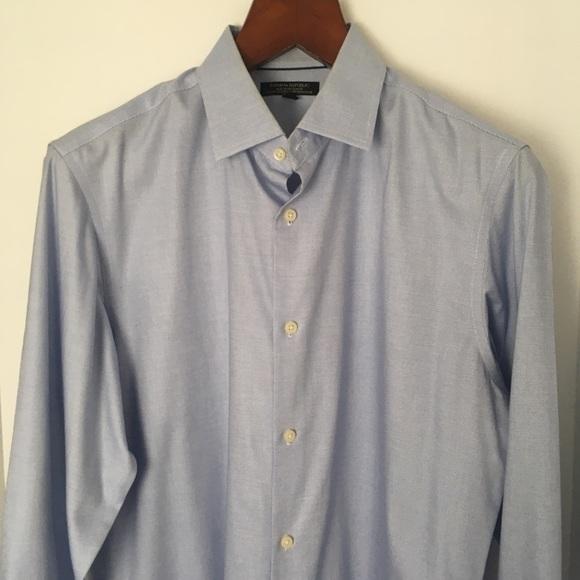 2/$30 BANANA REPUBLIC Blue 'Slim Fit' Cotton Shirt